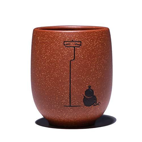 Bin Zhang Yixing Cuesta Abajo Barro Personal de una Taza Traje de Cuatro Piezas Taza pequeña Taza Zen Road estática Taza de Producto vacía (Color : Convenient Pack)