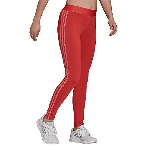 adidas GL0731 W 3S Leg Leggings Womens Crew Red/Hazy Rose L