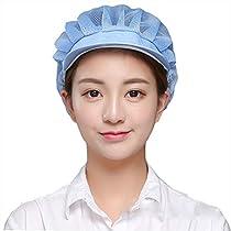 Maifunn 衛生キャップ 3枚セット キッチン 衛生帽 給食帽 工場 業務用...