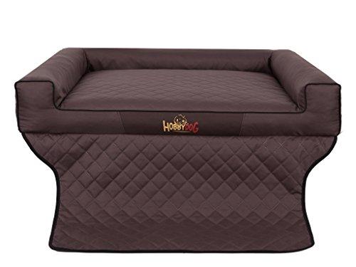 Hobbydog R1 Viki Hondenmand/Bed/Slaapbank Geschikt voor Trunks, 90 x 70 cm, DONKERBRUIN