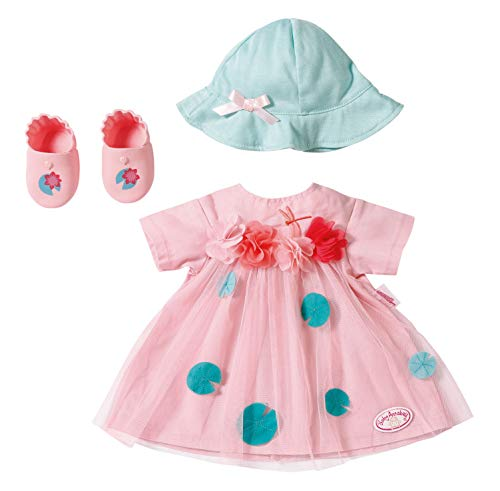 Zapf Creation 703052 Baby Annabell Deluxe Sommer Set Puppenkleidung 43 cm, rosa/blau