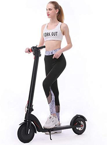 Scooter eléctrico para adultos con sistema de plegado fácil de 3 segundos, 220 libras plegable ajustable scooter con freno de disco y ruedas grandes de 10 pulgadas