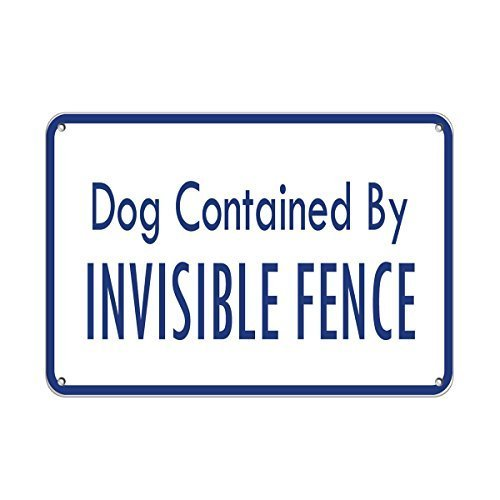 """NNBT Dogs Contained by Invisible Fence Pet Animal Sign for Outdoor & Indoor 12"""" x 8"""""""