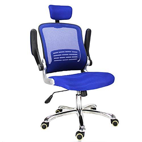 R & R Enterprises - Silla de oficina ajustable con reposabrazos ergonómico para reuniones ejecutivas, azul, talla única