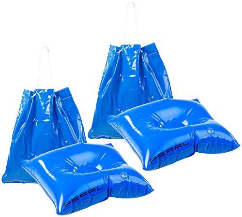 PEARL Handtasche: 2er-Set 2in1-Strandtaschen mit aufblasbarem Schwimmkissen, 31 x 33 cm (Luftkissen Pool)
