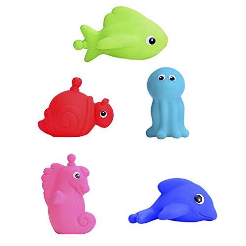 Gobesty Floating Babyspeelgoed, 5 stuks, waterspeelgoed voor peuters, kinderen, zeedieren
