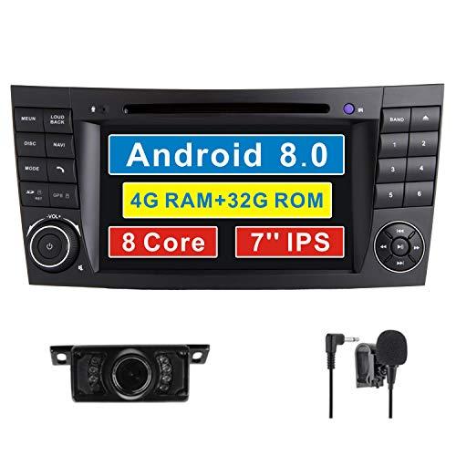 Android 8.0 estéreo de coche para Mercedes-Benz W211 E200 E220 E240 E270 E280 CLS W219 W350 W500 GPS navegación Octa-Core 64Bit 9' pantalla táctil capacitiva unidad de cabeza de radio DAB+