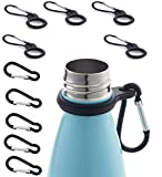 GRANDBUY 5Pcs Portable Carabiner Clip Water Bottle Holder Hook Key Ring Silicone Carrier with 5Pcs...