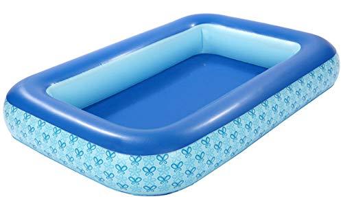 nobrand Wwceem Mink Kayak Rechteckiger aufblasbarer Schwimmhinterhof Innen- und Außenbereich Blau Weiß 210 * 150 * 32 cm Blauer Pool Geeignet für Erwachsene und Kinder Gartenhaus