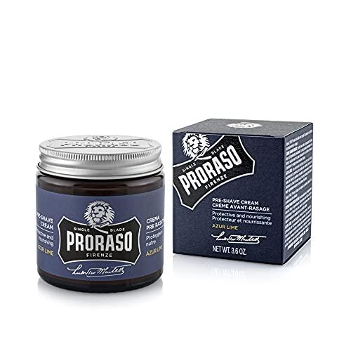 PRORASO Pre Shave Cream single blade Azur Lime, 100 ml