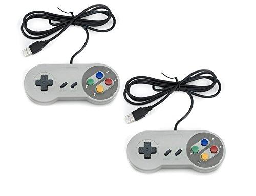 QUMOX 2 x Nintendo Juego de PC Gamepad Controlador SFC Mando