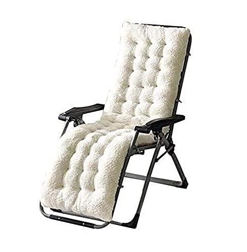 Yuing - Cuscino per chaise longue in peluche, antiscivolo, con laccetti spessi e imbottiti, per giardino, patio, lettino, sdraio, per viaggi, vacanze, interni ed esterni, 160 x 50 x 12 cm