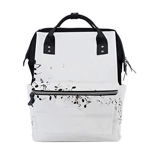 Rucksack Tasche Musik Symbol Art Note Rucksack für Frauen Mom Verstellbarer Riemen Outdoor Casual Daypack