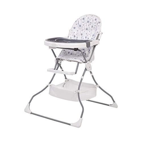 Polini Kids Kinderhochstuhl 252 Sterne weiß grau klappbar, 2135-14