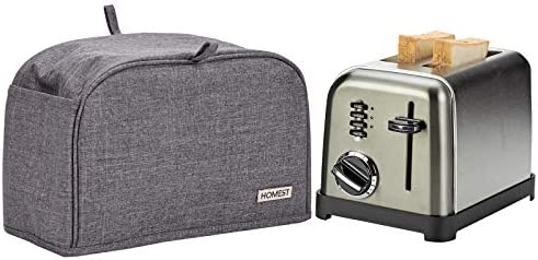 HOMEST 2 Slice Toaster Cover with Pockets Can Hold Jam Spreader Knife Toaster Tongs Dust and product image