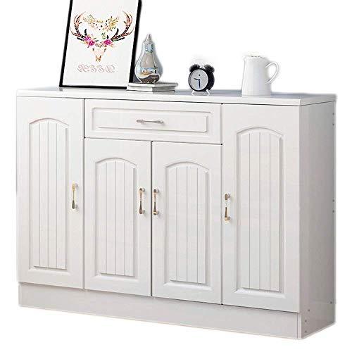 YAeele Zapatero Moderno Blanco Que Ahorra Espacio pequeño Zapato Gabinete (Color: Blanco, Tamaño: 120 * 33 * 89.5cm)