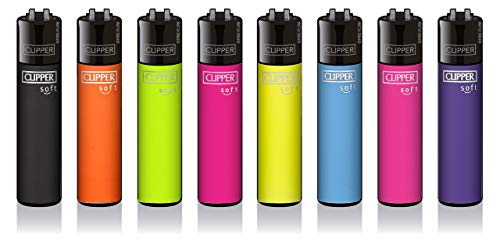 Clipper® Feuerzeuge - Soft Touch Special Edition #2-8er Set