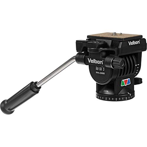 Velbon PH-368 Vel-Flo 9 Mini-Pro, 2-Way Panhead with Quick Release, Supports 10 lbs.