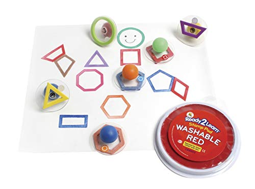 Center Enterprises Inc. Ready2Learn Giant Stampers, Outline Geometric Shapes, 10/Set