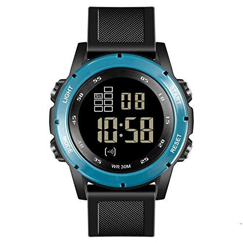 Waterproof Electronic Watch Multi-Function Night-Light Electronic Watch Running Sports Watch, Ink Blue