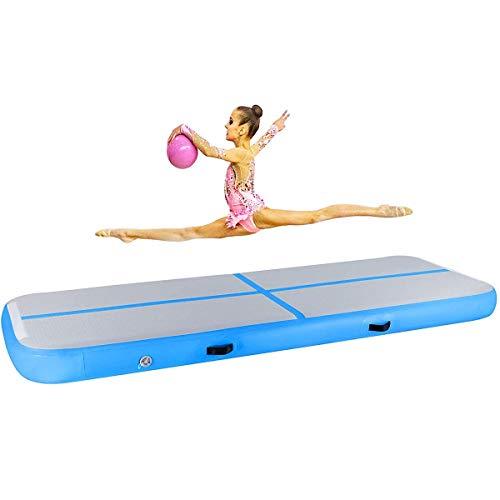 Pista de cáscara de aire Tumbling Mat 3M / 4M / 5M / 6M Gimnasia inflable Pista de aire Suelos de pisos con bomba de aire eléctrico para niños Gimnasio Capacitación de yoga Tumbling Park Uso del hogar