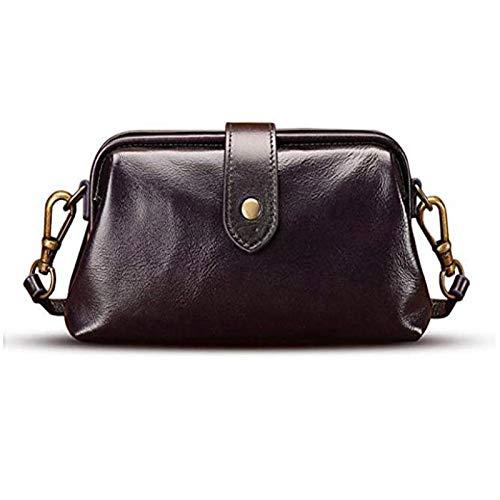 2020/2021 Retro Handmade Doctor Bag Crossbody,Premium Leather Retro Handmade Bag,Unique Opening Small Women Crossboy Bag,Women Vintage Style Genuine Brown Leather Crossbody Shoulder Bag (Black)