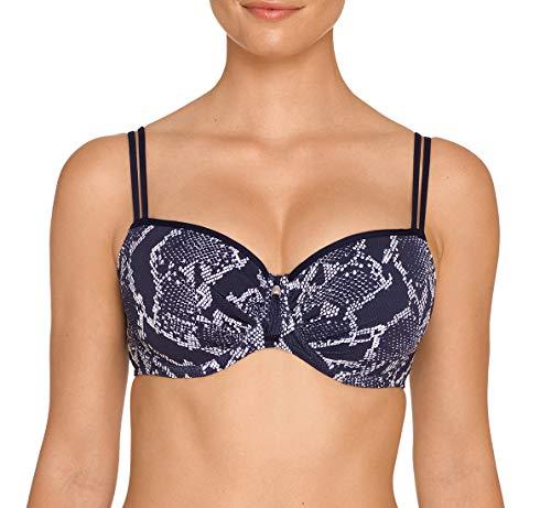 PrimaDonna Kala Padded Balcony Underwire Bikini Top (400-3916),34G,Water Blue