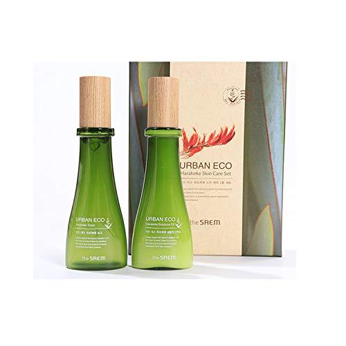 The Saem Urban Eco Harakeke Skin Care Set, Containing Toner And Emulsion Skin Care Set, Moisturizing Nourishing Gift Set