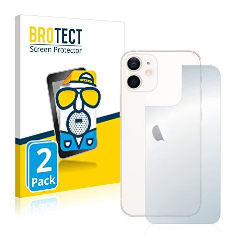 BROTECT 2X Entspiegelungs-Schutzfolie kompatibel mit Apple iPhone 12 Mini (Rückseite) Displayschutz-Folie Matt, Anti-Reflex, Anti-Fingerprint