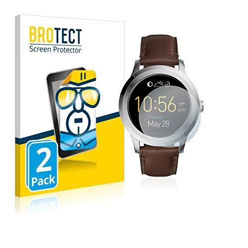 BROTECT Schutzfolie kompatibel mit Fossil Q Fo&er 2.0 (2 Stück) klare Bildschirmschutz-Folie