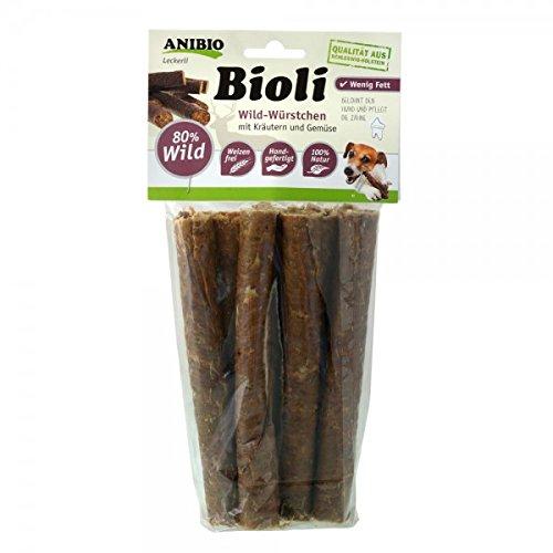 Anibio Bioli Wild-Würstchen mit kräutern und Gemüse (80% Wild) 7 Stück ca. 180g