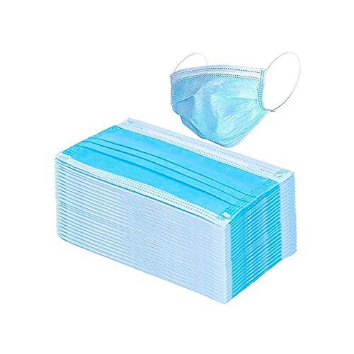 Chongya Mundschutzmaske mit 3 Lagen und Ohrschlaufen, Blau Gr. Einheitsgröße, 10 Stück