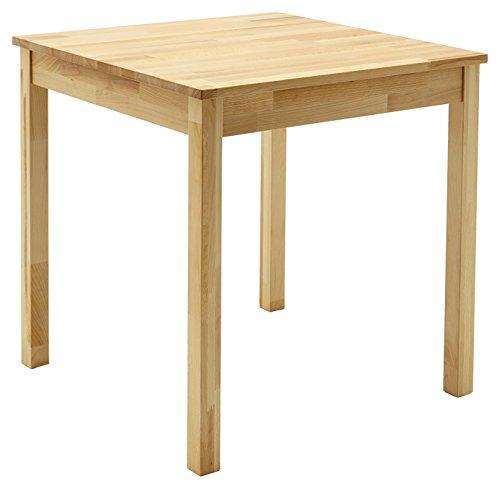 Robas Lund ALF070KB tafel eetkamertafel massief hout kernbeuk, Alfons BxHxD 70 x 76 x 70 cm, naturel