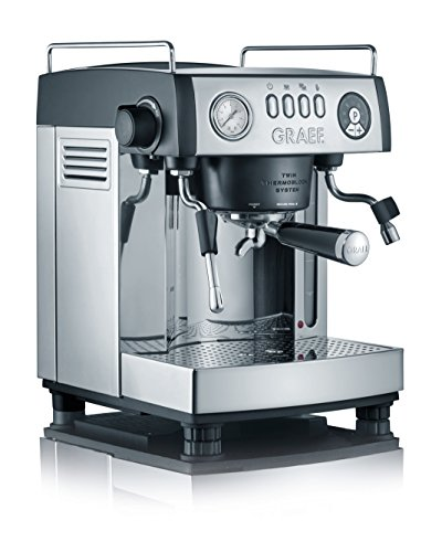 Graef ES902EU Espressomaschine, Aluminium, schwarz-matt/edelstahl