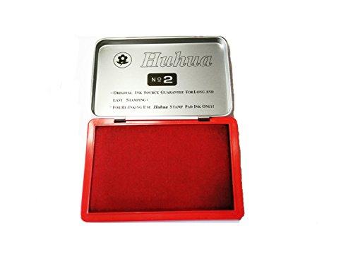 Tampone Inchiostro, Cuscinetti Inchiostrati per Timbri (Rosso)