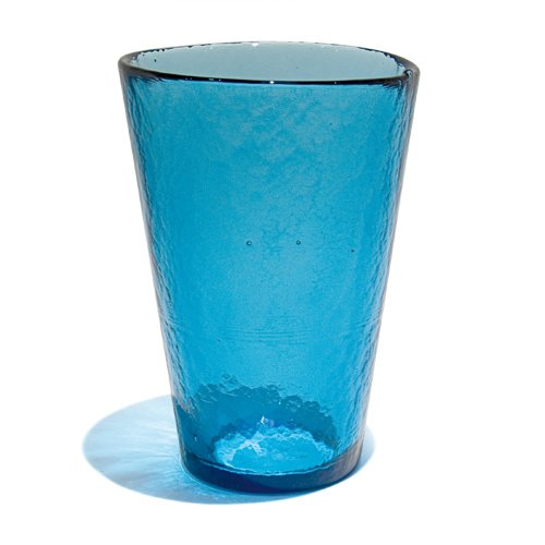 YALOS Murano Collection Happy Drink Bicchieri Bibita Happy Fruit Bicchieri Long Drink ø mm. 92 x mm. 134 Blu Vetro di Murano Made in Italy