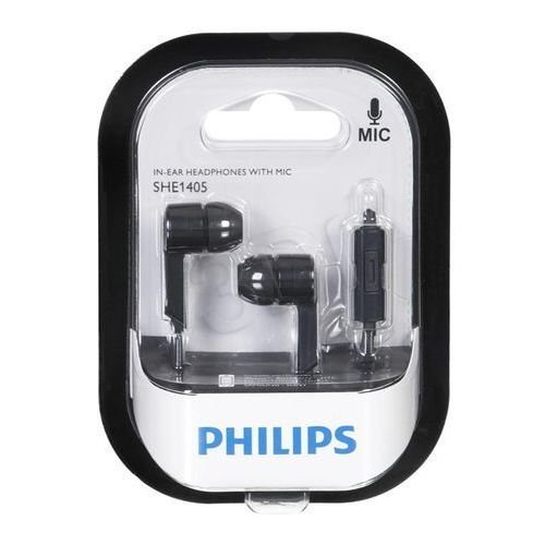 Philips Black Color Earphone / Handphone SHE1405BK/94 In-Ear With Mic Imported For HTC Desire 520