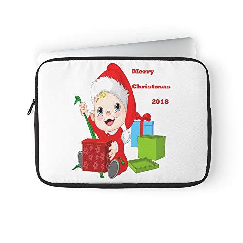 Lawrence Mr Adornos Merry Cross Asymmetrical Alex Alexandra Top Stamp Dannenmann Dies Christmas Laptop Sleeve Bag Compatible with MacBook Pro, MacBook Air, Notebook Computer, Water Repelle