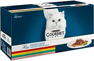 GOURMET - Les Filettines en Sauce : Bœuf, Poulet, Lapin, Saumon - 60x85g