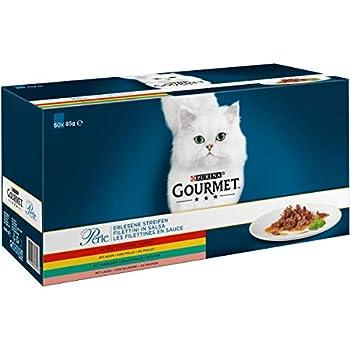 GOURMET - Les Filettines en Sauce : B?uf, Poulet, Lapin, Saumon - 60x85g