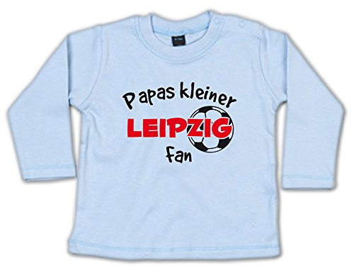G-graphics Papas Kleiner Leipzig Fan Baby Sweatshirt 268.0241 (12-18 Monate, blau)