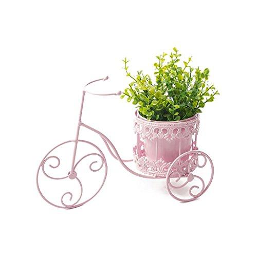 Support de fleur en métal Décor de jardin de fleur en métal de support de plante de pot avec des étagères pour intérieur et extérieur (style : A)
