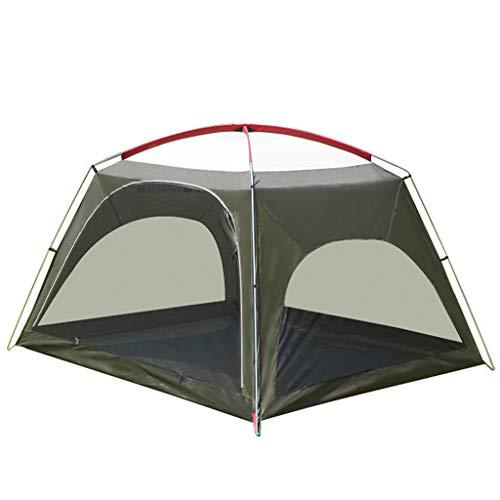LXX Zelt Automatische Pop-Up-Camping-Zelt 3 4 Person mit 2 Türen wasserdicht for Familien Wandern Berg Reise wurfzelte (Color : Green)