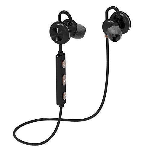 CIC Fone de Ouvido Metal Bluetooth Sem Fio Magnético Esportivo Esréreo Extra Bass para Samsung e Apple à Prova de Água e Suor Reduz Ruídos para Xiaomi, LG, Motorola