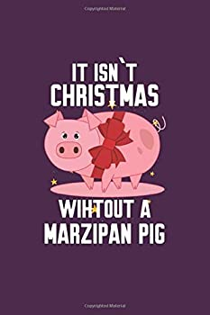 Marzipan Pig  Funny Traditional Norwegian Christmas Gift 6X9 Dot Grid Journal