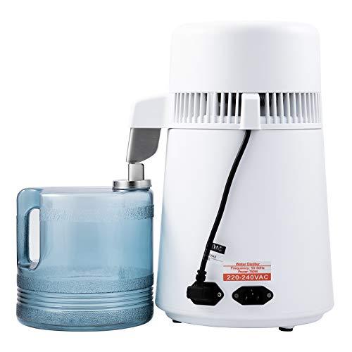 CO-Z 4L Tischwasserfilter Wasserfilter 1L/H mit Plastiksammelkanne Zuhause Wasser Filterkanne aus Edelstahl Wasserbrenner Wasser-Filtration-Maschine