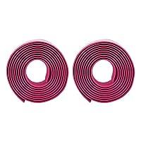 ハンドルラップ、取り付けが簡単ハンドルバーテープ耐久性のあるスキッドプルーフ高靭性EVA、サイクリング愛好家のためのハンドルバーエンドプラグ付き(pink)