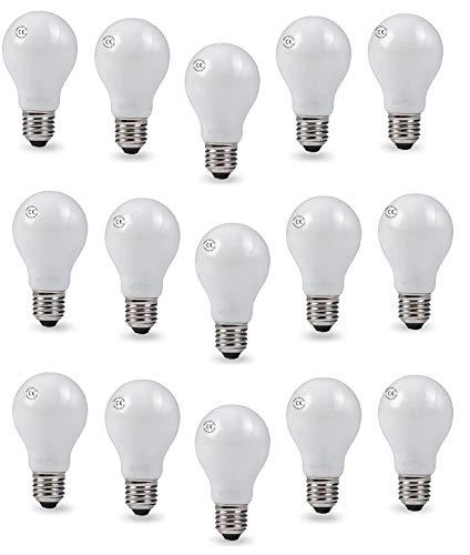 AcornSolution Bombillas incandescentes, con forma de pera, A55, bombillas incandescentes, luz blanca cálida (60 W, A55-E27 matt-60 W-20 paquetes).