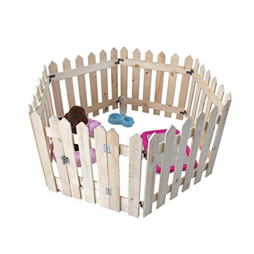 PNFP houten huisdier hek voor tuin balkon buiten binnen, voor kleine/middelgrote honden, grote hond Playpen huis met deur, 6 paneel