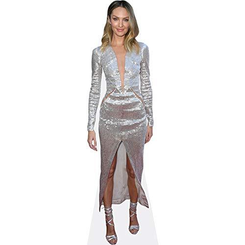 Celebrity Cutouts Candice Swanepoel (Silver Dress) Pappaufsteller lebensgross
